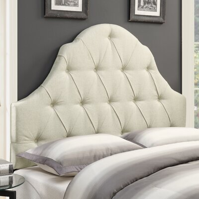 Redfield Upholstered Panel Headboard Size: Queen, Upholstery: Beige