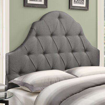Redfield Upholstered Panel Headboard Size: Queen, Upholstery: Ash
