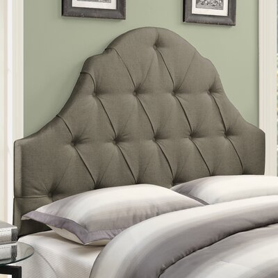 Redfield Upholstered Panel Headboard Size: Queen, Upholstery: Taupe