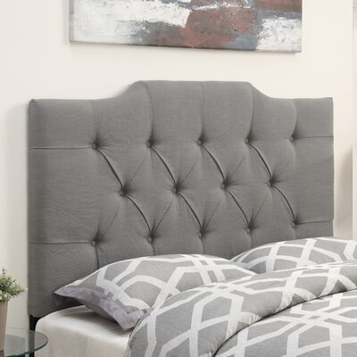 Goldsmith Upholstered Panel Headboard Upholstery: Taupe, Size: King