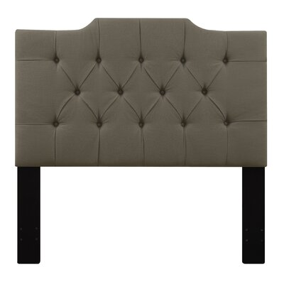 Goldsmith Upholstered Panel Headboard Size: Queen, Upholstery: Taupe