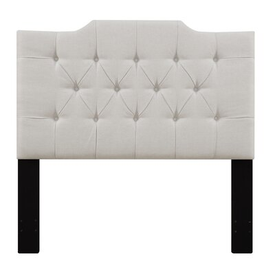 Goldsmith Upholstered Panel Headboard Size: Queen, Upholstery: Linen