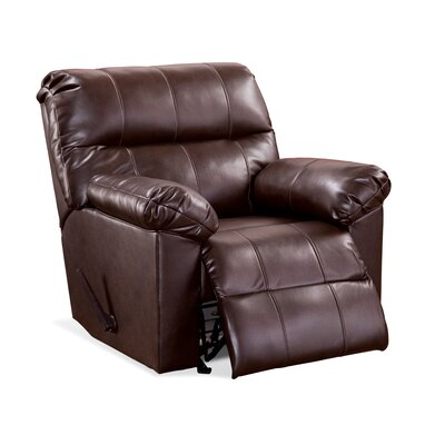 Serta Ravens Manual Recliner Upholstery: Troy Wine
