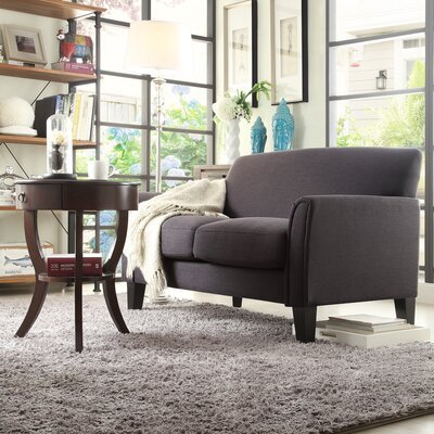 Minisink Loveseat Upholstery: Dark Gray