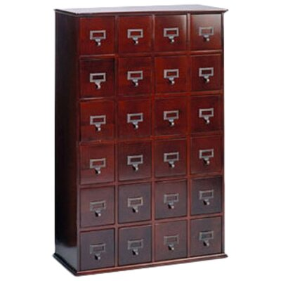 Shillington Multimedia Library Style Drawer Color: Cherry