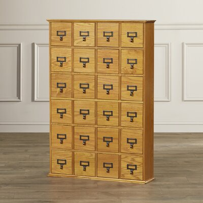 Shillington Multimedia Library Style Drawer Color: Oak