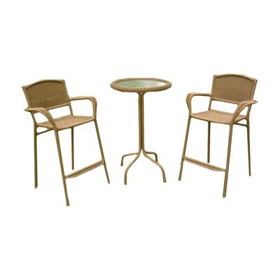 Narron 3 Piece Bar Set Finish: Mocha
