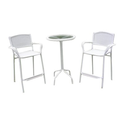 Narron 3 Piece Bar Set Finish: White
