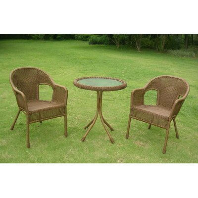 Narron 3 Piece Bistro Set Finish: Mocha