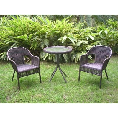 Narron 3 Piece Bistro Set Finish: Antique Pecan