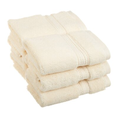 Spring Grove 900GSM Premium Long-Staple Combed Cotton Wash Cloth (Set of 6) Color: Cream