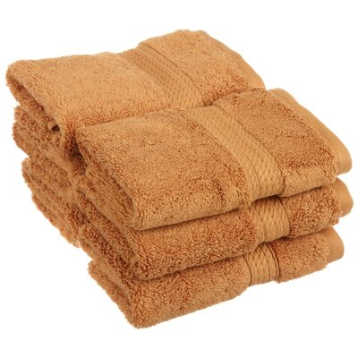 Spring Grove 900GSM Premium Long-Staple Combed Cotton Wash Cloth (Set of 6) Color: Rust
