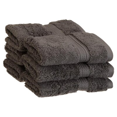 Spring Grove 900GSM Premium Long-Staple Combed Cotton Wash Cloth (Set of 6) Color: Charcoal