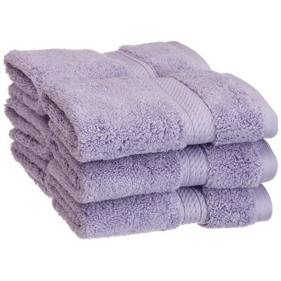 Spring Grove 900GSM Premium Long-Staple Combed Cotton Wash Cloth (Set of 6) Color: Purple