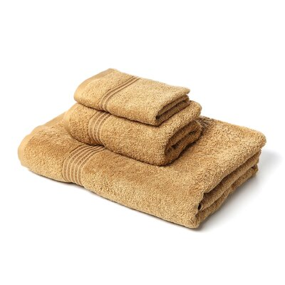 Spring Grove 3 Piece 600GSM Premium Combed Cotton Towel Set Color: Toast
