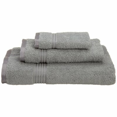 Spring Grove 3 Piece 600GSM Premium Combed Cotton Towel Set Color: Silver