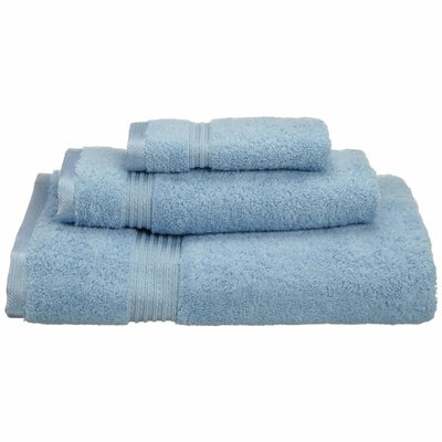 Spring Grove 3 Piece 600GSM Premium Combed Cotton Towel Set Color: Light Blue