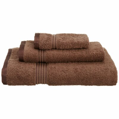 Spring Grove 3 Piece 600GSM Premium Combed Cotton Towel Set Color: Mocha