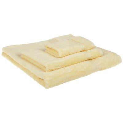 Spring Grove 3 Piece 600GSM Premium Combed Cotton Towel Set Color: Canary