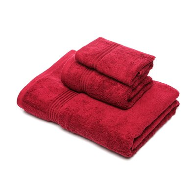 Patric 3 Piece Towel Set Color: Burgundy