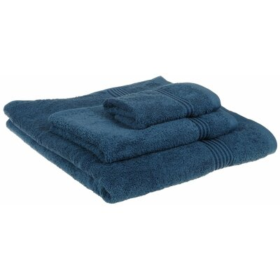 Spring Grove 3 Piece 600GSM Premium Combed Cotton Towel Set Color: Sapphire