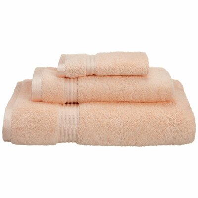Patric 3 Piece Towel Set Color: Peach