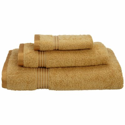 Spring Grove 3 Piece 600GSM Premium Combed Cotton Towel Set Color: Gold