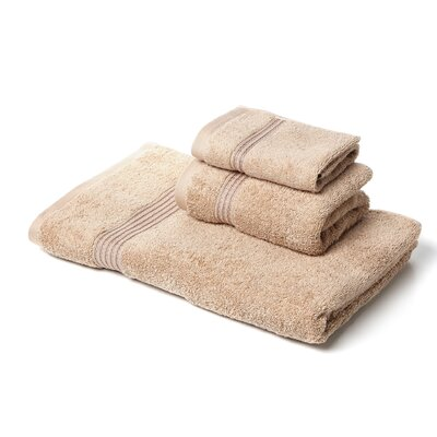 Spring Grove 3 Piece 600GSM Premium Combed Cotton Towel Set Color: Taupe