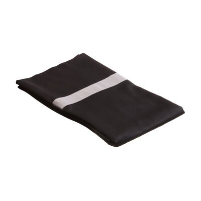 Parish 300TC Cotton Pillowcase Size: Standard, Color: Black / Grey