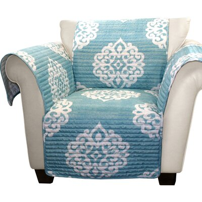 Stroudsburg Box Cushion Armchair Slipcover Color: Blue/White