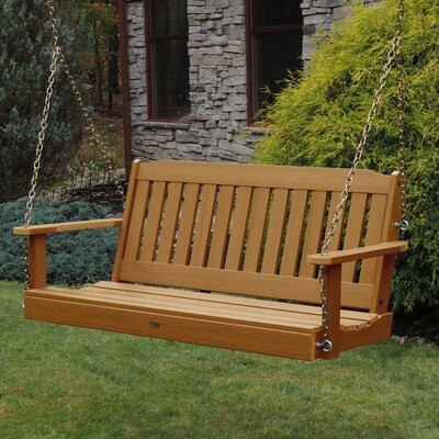 Amelia Porch Swing Size: 52, Finish: Toffee