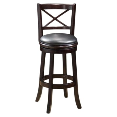 Fairdale 29 Swivel Bar Stool Finish: Cappuccino
