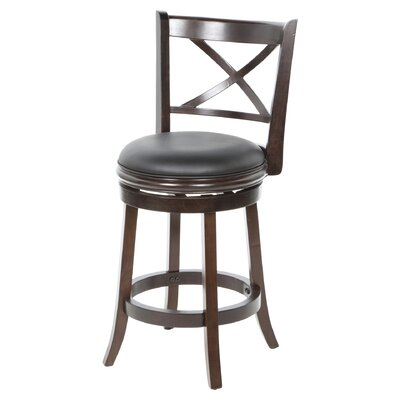 Fairdale 24 Swivel Bar Stool Finish: Cappuccino