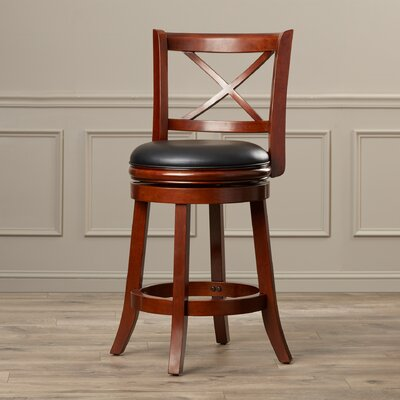 Fairdale 24 Swivel Bar Stool Finish: LT Cherry