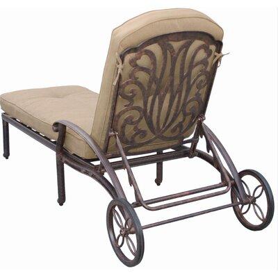 Lebanon Chaise Lounge Seat and Back Cushions Fabric: Sesame