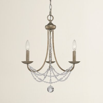 Atwood 3 Light Crystal Chandelier
