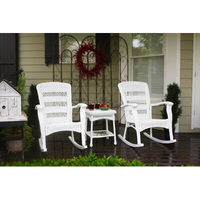 Baden 3 Piece Seating Group Finish: White
