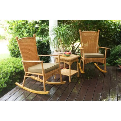 Baden 3 Piece Rocker Seating Group with Cushions Finish: Amber