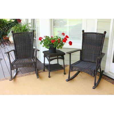 Baden 3 Piece Rocker Seating Group with Cushions Finish: Dark Roast