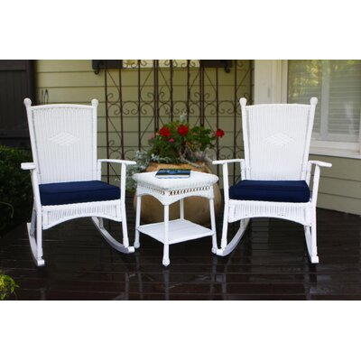 Baden 3 Piece Rocker Seating Group with Cushions Finish: White