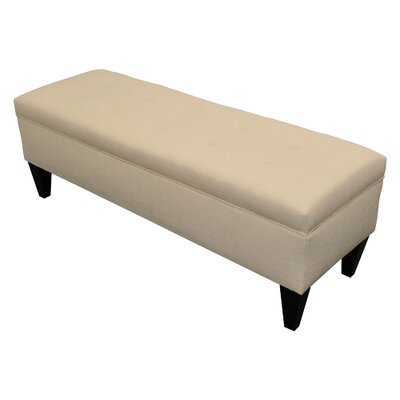 Tusarora Upholstered Storage Bench Color: Carlsbad Ivory