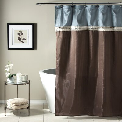 Attleborough Shower Curtain Color: Blue / Chocolate