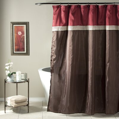 Attleborough Shower Curtain Color: Red / Chocolate