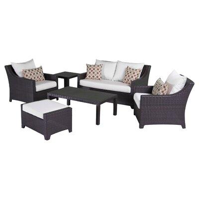 Northridge 6 Piece Deep Seating Group with Cushions Fabric: Moroccan Cream