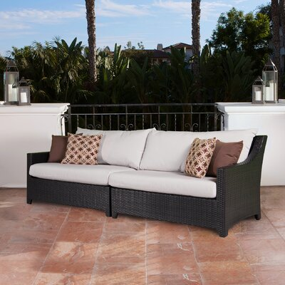 Northridge Patio 2 Piece Loveseat Fabric: Moroccan Cream