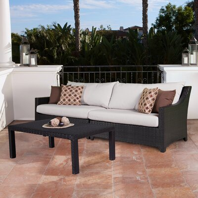 Northridge 2 Piece Deep Seating Group with Cushion Fabric: Moroccan Cream