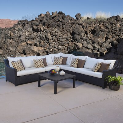 Northridge 6 Piece Sectional Seating Group with Cushions Fabric: Moroccan Cream
