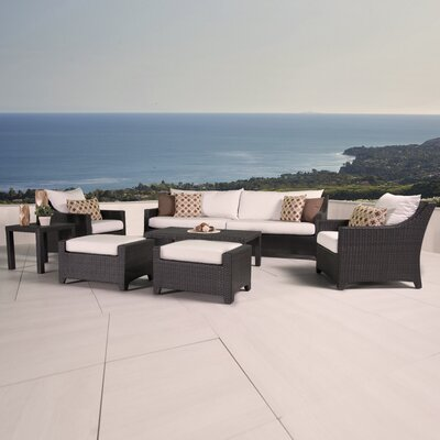 Northridge 8 Piece Deep Seating Group with Cushions Fabric: Moroccan Cream
