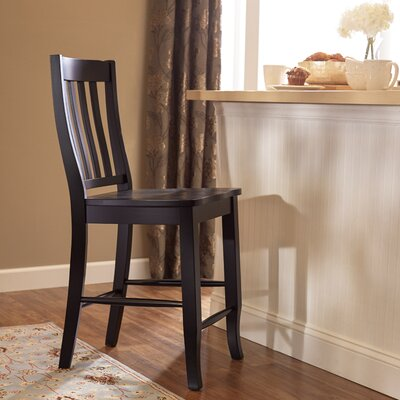 Courtdale 24 Bar Stool (Set of 2) Finish: Ebony