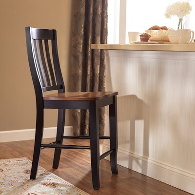 Courtdale 24 Bar Stool (Set of 2) Finish: Almond / Ebony